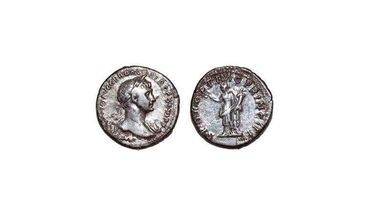 Ancient Roman Imperial Coins - Trajan - Felicitas Denarius