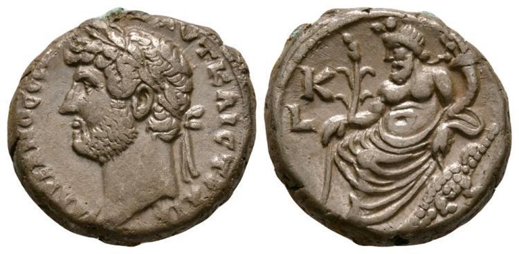 Ancient Roman Imperial Coins - Hadrian - Alexandria - Nilus Tetradrachm