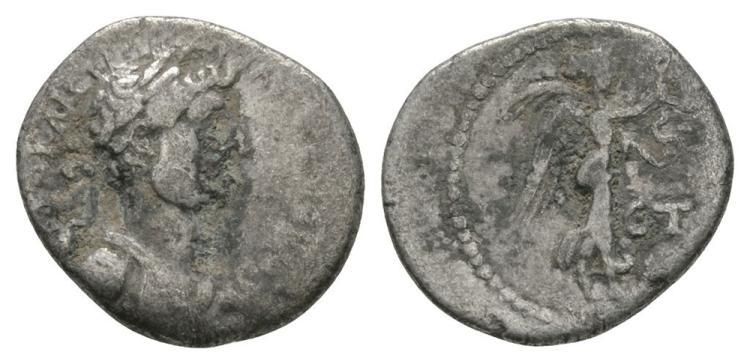 Ancient Roman Imperial Coins - Hadrian - Caesarea - Nike Hemidrachm