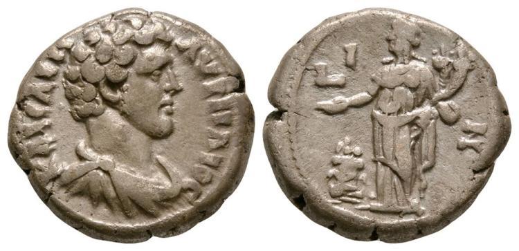 Ancient Roman Imperial Coins - Marcus Aurelius (as Caesar) - Alexandria - Homonoia Tetradrachm