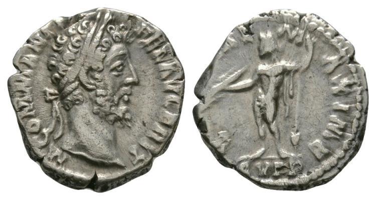 Ancient Roman Imperial Coins - Commodus - Jupiter Denarius