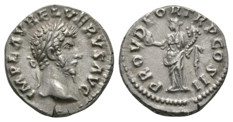 Ancient Roman Imperial Coins - Lucius Verus - Providentia Denarius