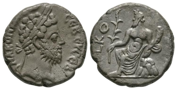 Ancient Roman Imperial Coins - Commodus - Alexandria - Nilus Tetradrachm
