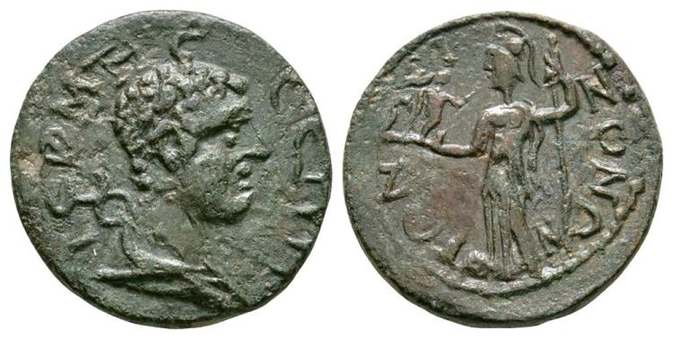 Ancient Roman Imperial Coins - Termessos Major - Pisidia - Athena Bronze