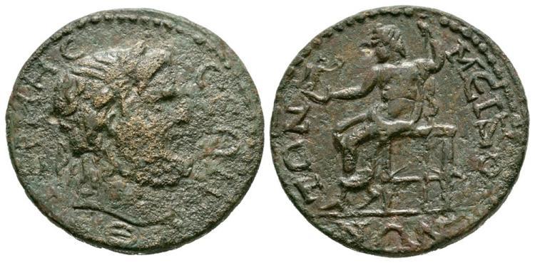 Ancient Roman Imperial Coins - Termessos Major - Pisidia - Zeus Bronze