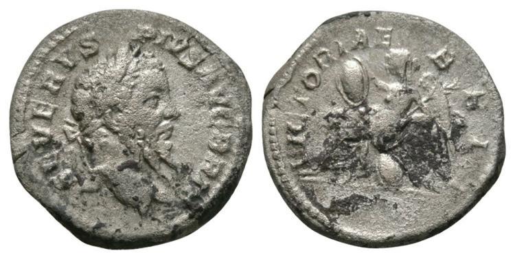 Ancient Roman Imperial Coins - Septimius Severus - Britannia Denarius