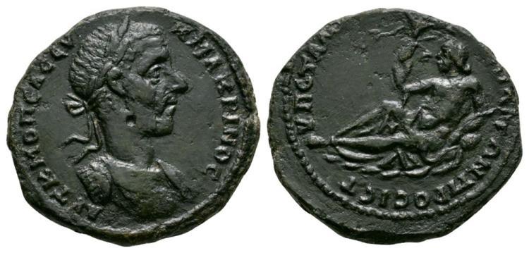 Ancient Roman Imperial Coins - Macrinus - Nikopolis ad Istrum - Istros Bronze