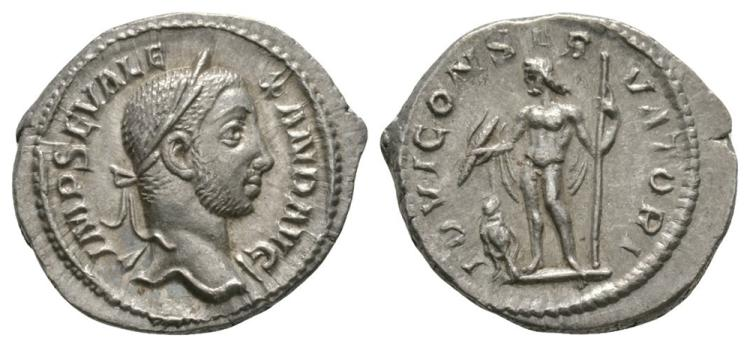 Ancient Roman Imperial Coins - Severus Alexander - Jupiter Denarius