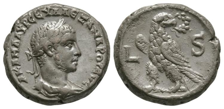 Ancient Roman Imperial Coins - Severus Alexander - Alexandria - Eagle Tetradrachm
