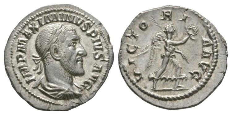 Ancient Roman Imperial Coins - Maximinus I - Victory Denarius