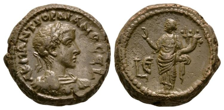 Ancient Roman Imperial Coins - Gordian III - Alexandria - Homonoia Tetradrachm