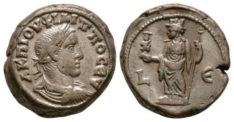 Ancient Roman Imperial Coins - Philip I - Alexandria - Alexandria Tetradrachm