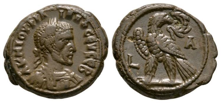 Ancient Roman Imperial Coins - Philip I - Alexandria - Eagle Tetradrachm