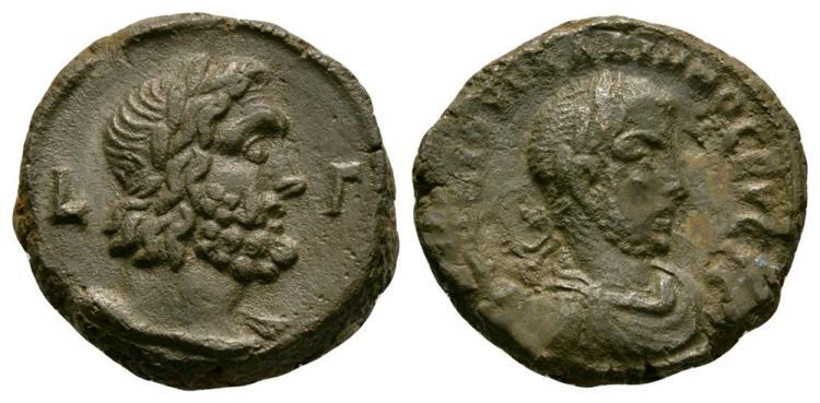Ancient Roman Imperial Coins - Philip I - Alexandria - Zeus Tetradrachm