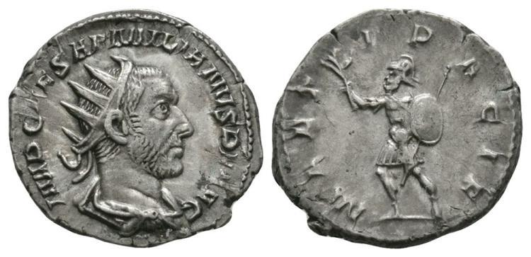 Ancient Roman Imperial Coins - Aemilian - Mars Antoninianus