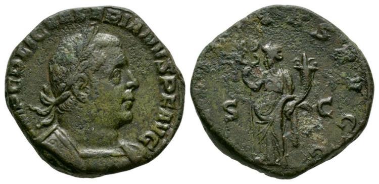 Ancient Roman Imperial Coins - Valerian - Felicitas Sestertius