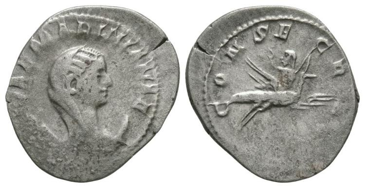 Ancient Roman Imperial Coins - Mariniana - Empress on Peacock Antoninianus