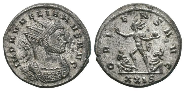 Ancient Roman Imperial Coins - Aurelian - Oriens Antoninianus