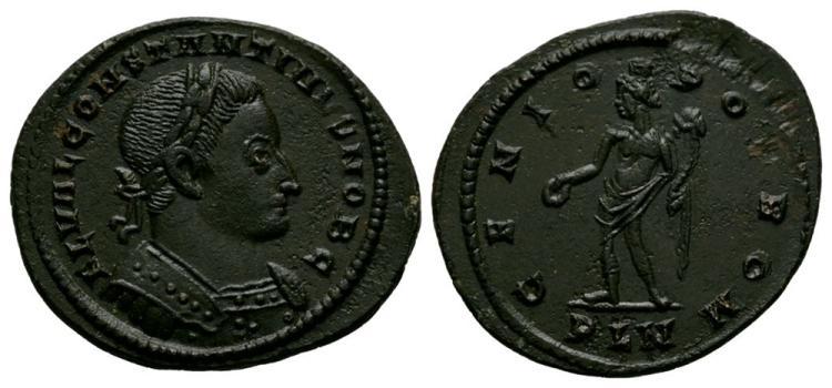 Ancient Roman Imperial Coins - Constantine I (as Caesar) - London - Genius Follis