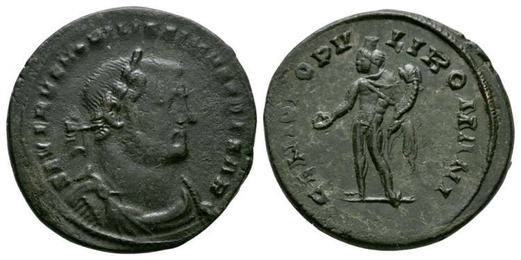 Ancient Roman Imperial Coins - Severus II - London - Genius Follis