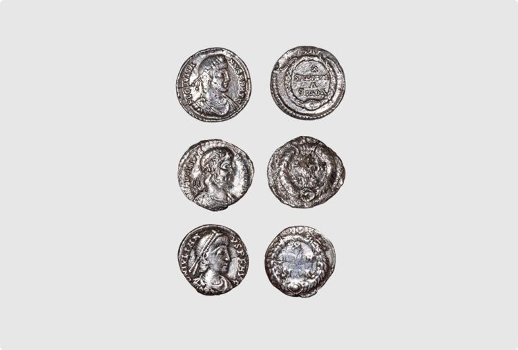 Ancient Roman Imperial Coins - Julian II - Wreath Siliquae [3]
