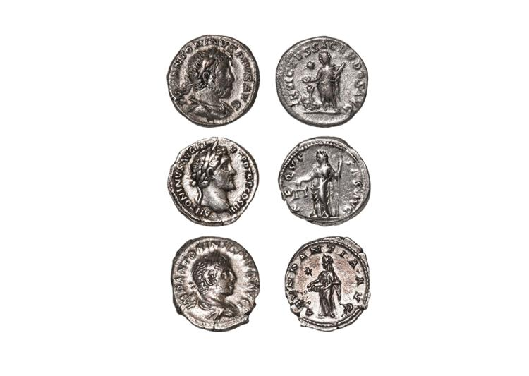 Ancient Roman Imperial Coins - Antoninus Pius and Elagabalus - Denarii [3]