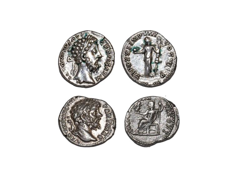 Ancient Roman Imperial Coins - Marcus Aurelius and Septimius Severus - Denarii Group [2]
