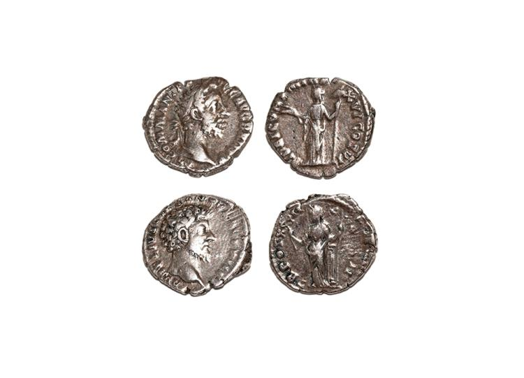 Ancient Roman Imperial Coins - Commodus and Marcus Aurelius - Denarii [2]