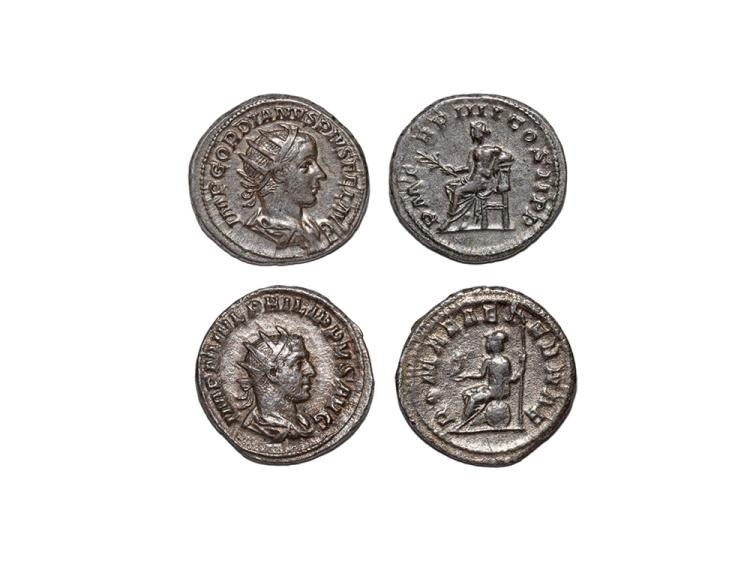 Ancient Roman Imperial Coins - Gordian III and Philip I - Antoninianii [2]