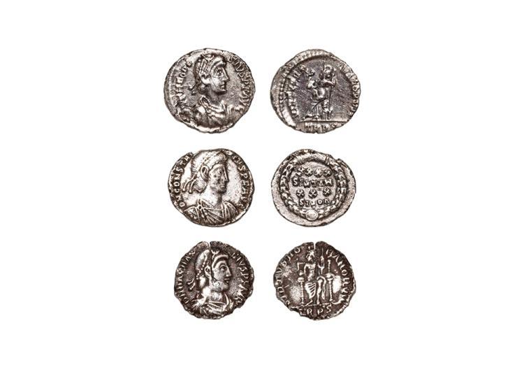 Ancient Roman Imperial Coins - Theodosius I, Constantius II and Magnus Maximus - Siliquae [3]