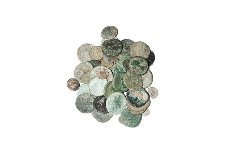 Ancient Roman Imperial Coins - Mixed Early Bronzes and Denarii [48]