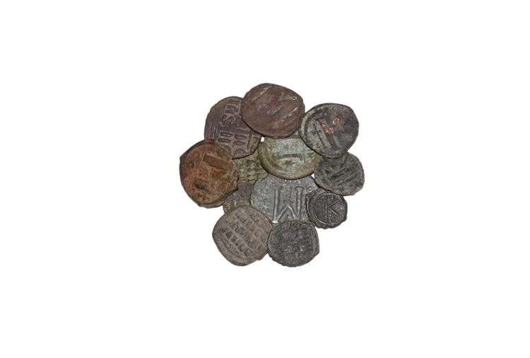 Ancient Byzantine Coins - Early Folles Group [12]