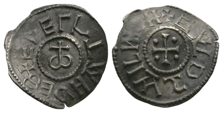 Anglo-Saxon Coins - Aethelstan I - East Anglia / Eadgar - Omega Cross Penny