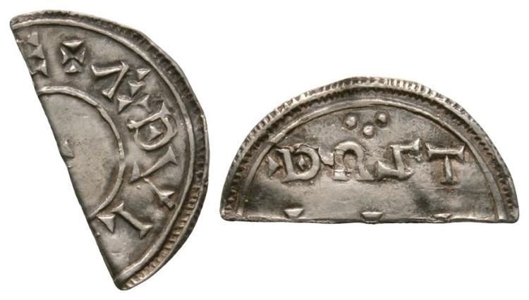 Anglo-Saxon Coins - Aethelstan - Thurstan - Two Line Cut Halfpenny