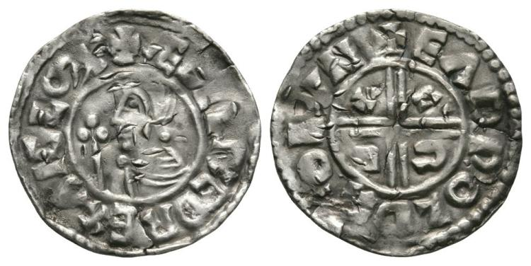 Anglo-Saxon Coins - Aethelred II - London / Eadwold - CRVX Penny