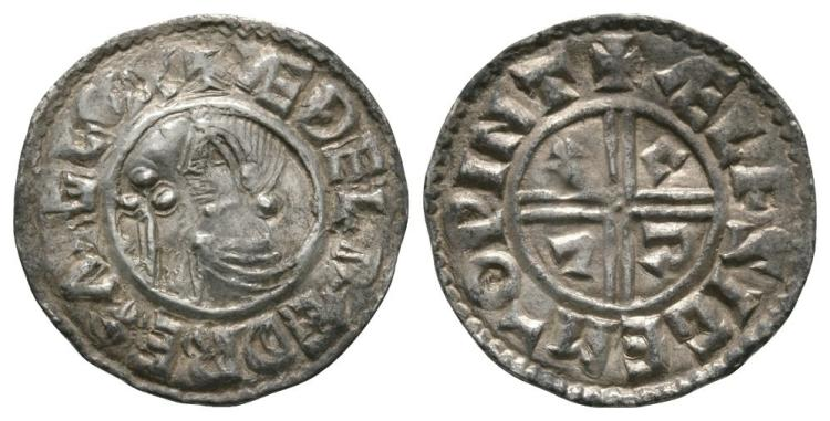 Anglo-Saxon Coins - Aethelred II - Winchester / Aelfsige - CRVX Penny