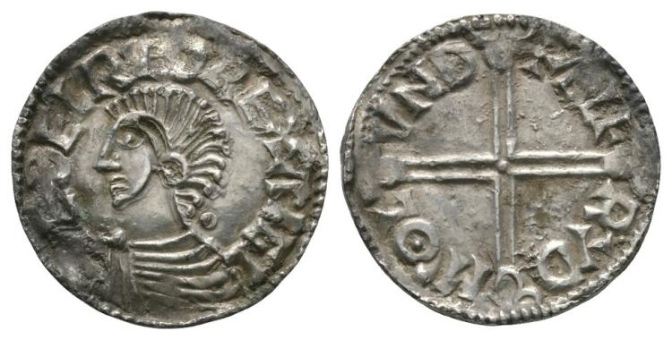 Anglo-Saxon Coins - Aethelred II - London / Alfred - Long Cross Penny