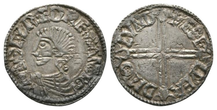Anglo-Saxon Coins - Aethelred II - London / Aethelweard - Long Cross Penny