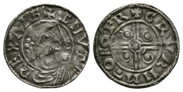 Anglo-Saxon Coins - Cnut - York / Crucan - Pointed Helmet Penny
