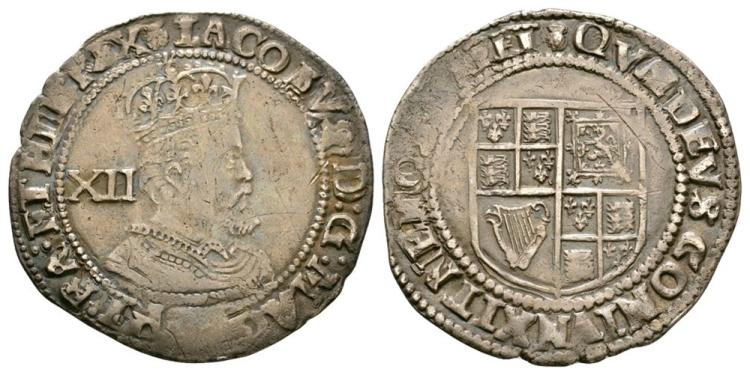 English Stuart Coins - James I - Shilling