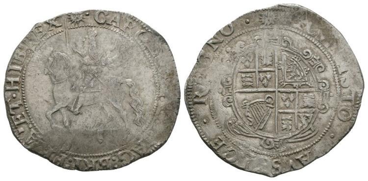 English Stuart Coins - Charles I - Tower under Parliament - Halfcrown