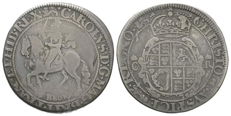 English Stuart Coins - Charles I - York - Halfcrown