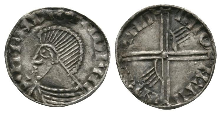 World Coins - Ireland - Hiberno-Norse - Sithric Anlafsson - Long Cross and Hand Penny
