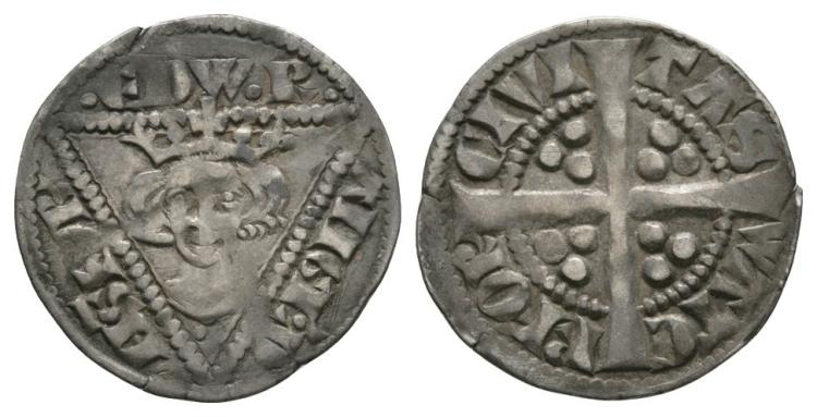 World Coins - Ireland - Edward I - Waterford - Long Cross Penny
