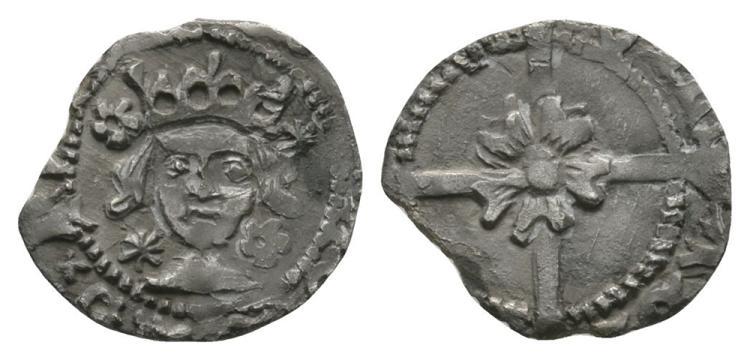 World Coins - Ireland - Edward IV - Drogheda - Large Rose Penny