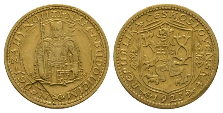 World Coins - Czechoslovakia - 1923 - Gold Trade Ducat