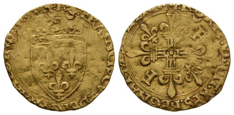 World Coins - France - Francis I - Gold Ecu d'Or