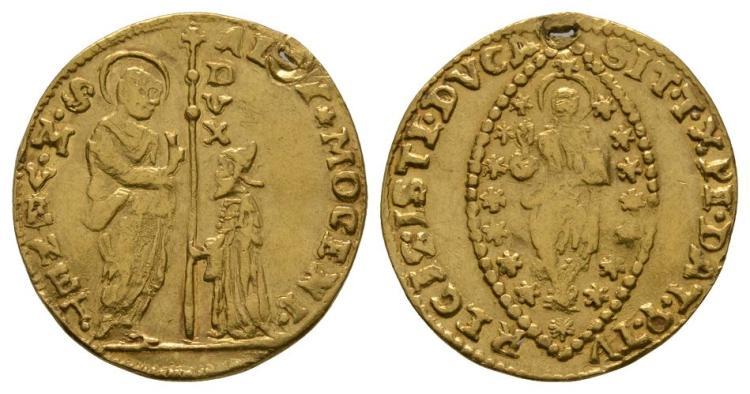 World Coins - Italy - Venice - Alvise III Mocenigo - 1722-1732 - Gold Zecchino