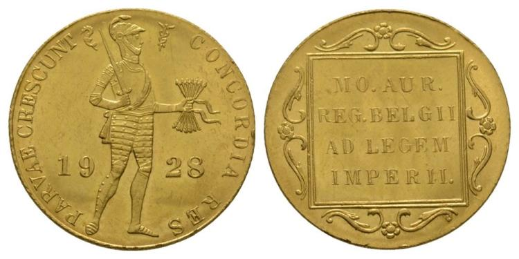 World Coins - Netherlands - 1928 - Gold Trade Ducat