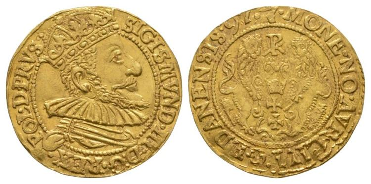 World Coins - Poland - Sigismund III - 1590 - Gold Ducat